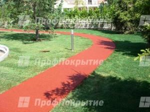 Современные покрытия из резиновой крошки для садовых дорожек