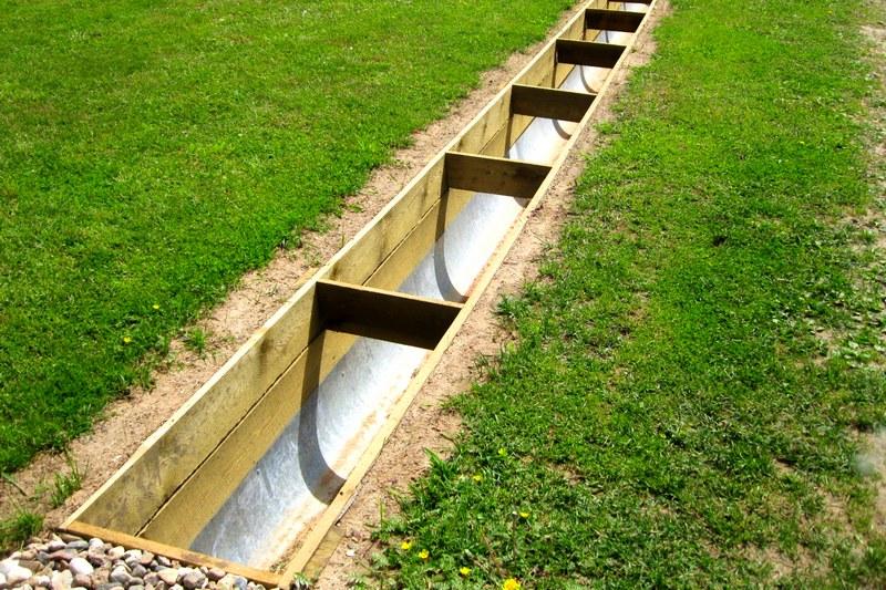 Система отвода использованной воды по канаве