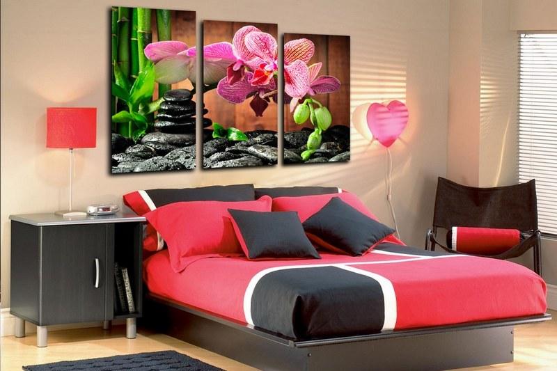 Модульные картины: акцентный декор стен